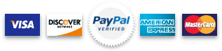 We Accept PayPal and Major Credit Cards