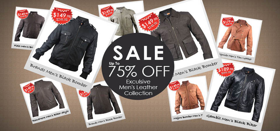 Sale - Exclusive Mens Leather Collection