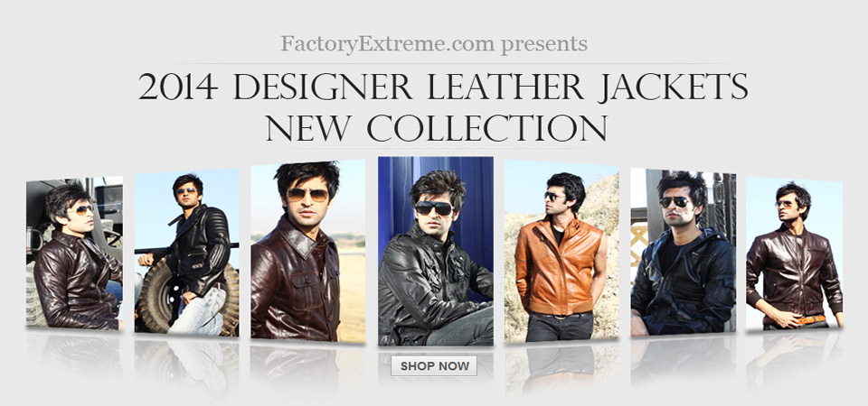 New - Mens Designer Leather Jackets Collection