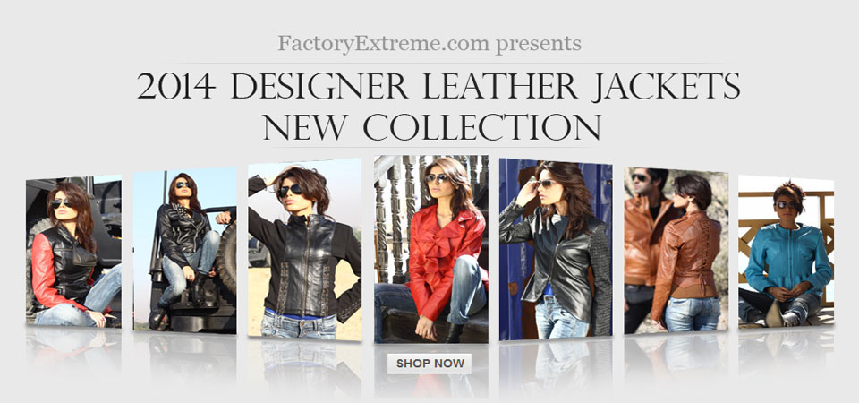 New - Womens Designer Leather Jackets