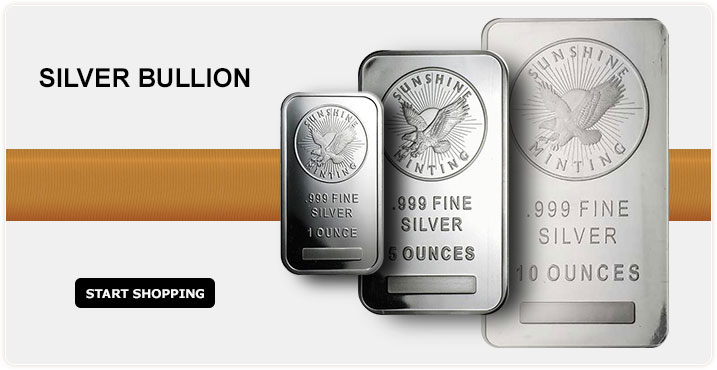 Silver Bullion - Start Shopping