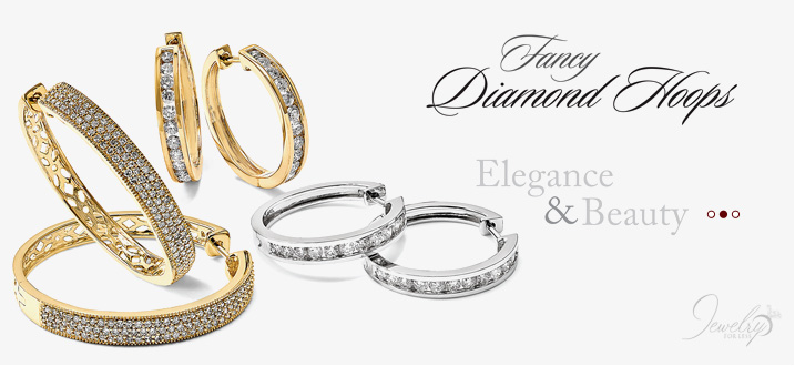 Shop Fancy Diamond Hoops