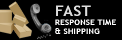 Fast Response Time and Shipping