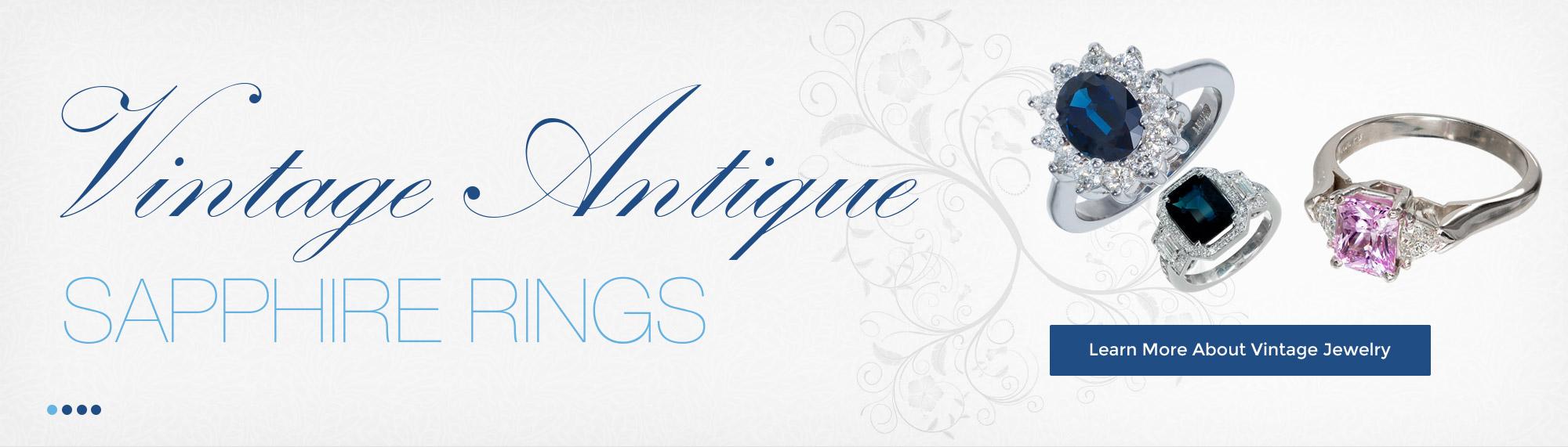 Vintage Antique Sapphire Rings