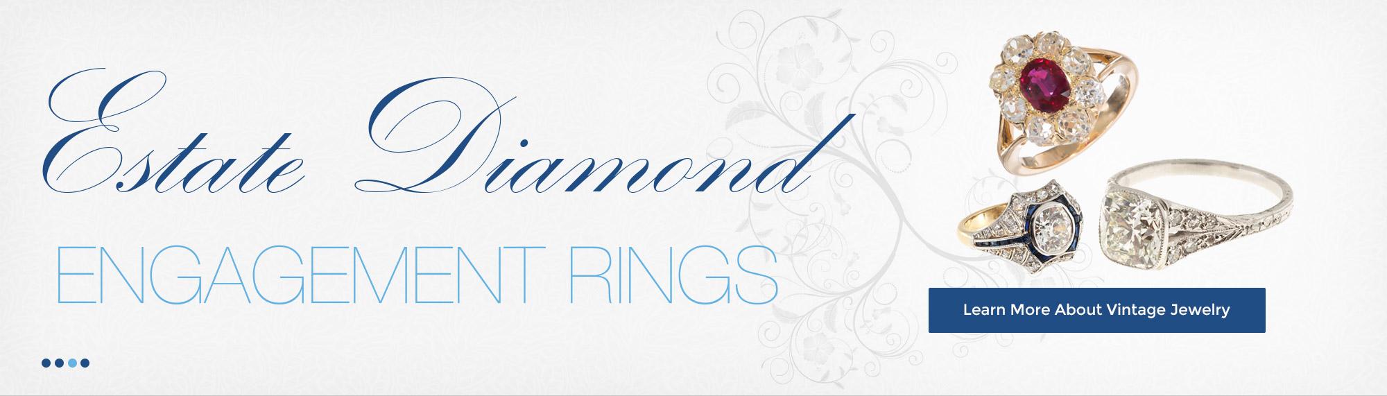 Estate Diamond Engagement Rings
