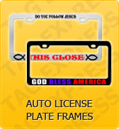 Click to Shop Auto License Plate Frames