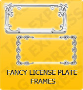 Click to Shop Fancy License Plate Frames