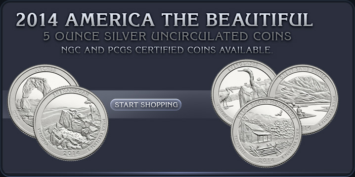 2014 America the Beautiful 5 oz Silver