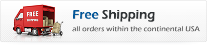 Free Shipping all orders wtihin the continental USA