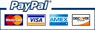 We accept PayPal&nbsp;