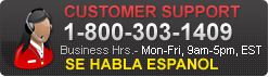 Customer Support 1-800-303-1409