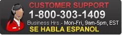 Customer Support 1-800-303-1409