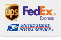 We ship fast by UPS, FedEx and USPS