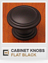 Cabinet Hardware - Flat Black