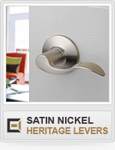 Door Hardware - Satin Nickel - Heritage Levers