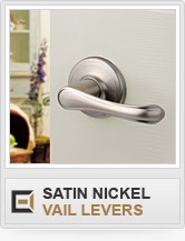Door Hardware - Satin Nickel - Vail Levers