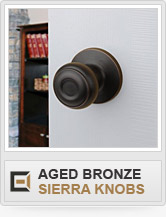 Door Hardware - Aged Bronze - Sierra Knobs
