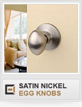 Door Hardware - Satin Nickel - Egg Knobs