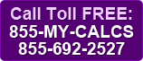 Call Toll Free 855-MY-CALCS
