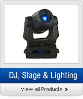Click to Shop DJ, Stage, & Lighting