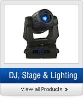 Click to Shop DJ, Stage, & Lighting