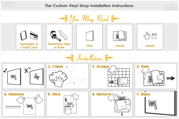 Abelovinfo  Color The Walls Of Your House - Vinyl wall decals application instructions