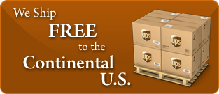 We ship free to the Continental US