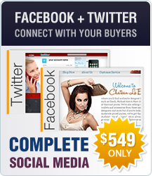 Facebook design, Twitter design, complete social media packages