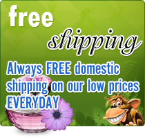 Always FREE domestic shipping on  our low prices EVERYDAY