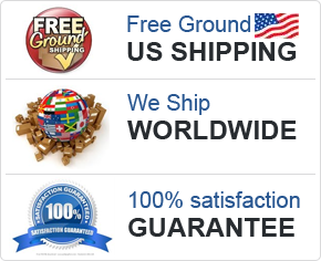 Free Ground US Shipping, We Ship Worldwide, Satisfaction Guarantee