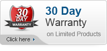 30 Day Warranty on Limited Products