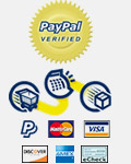 We accept PayPal and major credit card payments
