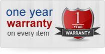 One year warranty on every item