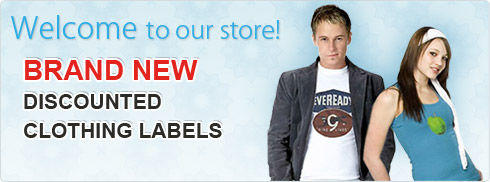 Welcome to our store - brand new discounted clothing labels