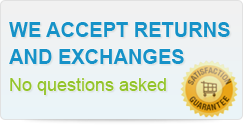 We accept returns and exchanges no questions asked