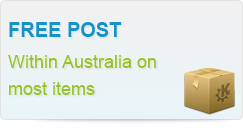 Free Post Within Australia on most items