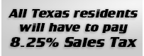All Texas Residents will have to pay Sales Tax